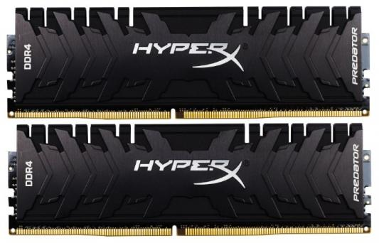 Модуль памяти DDR4 Kingston 8Gb KIT (4GbX2) 3200MHz HyperX PREDATOR Black Series CL16 [HX432C16PB3K2/8] kingston kingston hyperx predator 240гб