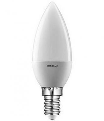 Лампа светодиодная ERGOLUX 12135 LED-C35-7W-E14-4K Свеча 7Вт E14 4500K 172-265В лампочка ergolux led c35 9w e14 13169