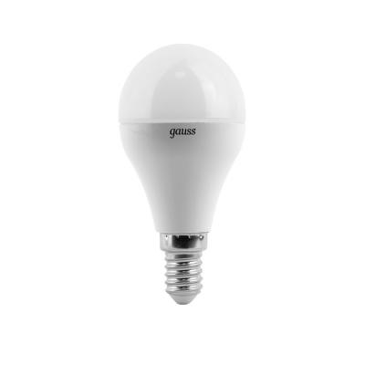 Лампа GAUSS LED Elementary 53128 globe 8w Е14 4100k 1/10/100 лампа светодиодная gauss ld108008208 led gx53 8w 4100k