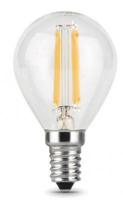 Лампа светодиодная GAUSS 105801205 LED Filament globe Е14 5Вт 4100k 1/10/50 лампочка gauss gs 105801205