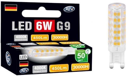 Купить Лампа светодиодная REV RITTER 32384 6 jcd g9 6w 360лм 4000k холодный свет 220v