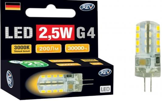 Лампа светодиодная REV RITTER 32437 9 jc g4 2.5w 3000k теплый свет 220v фошань освещения fsl светодиодная лампа t8 двухсторонняя лампа длина 0 9 м 12 вт теплый белый 3000k jinghui