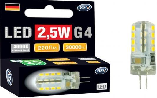 Лампа светодиодная REV RITTER 32438 6 jc g4 2.5w 4000k холодный свет 220v rev ritter 32007 6