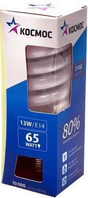 Лампа энергосберегающая КОСМОС 13Ватт 4200К Е14 Т2 лампа энергосберегающая космос свет теплый модель т2 spc 15w e1427