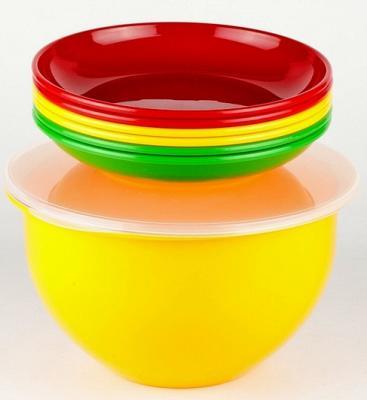 SOLARIS набор посуды: 6 тарелок 180мм в контейнере