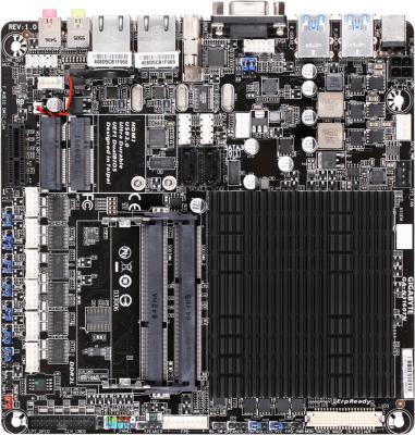 Материнская плата GigaByte GA-N3160TN с процессором Intel 2xDDR3 1xPCI-E 1x 2 mini-ITX материнская плата gigabyte ga j3455n d3h с процессором intel j3455 2xso dimm ddr3 1xpci 4xsataiii mini itx retail