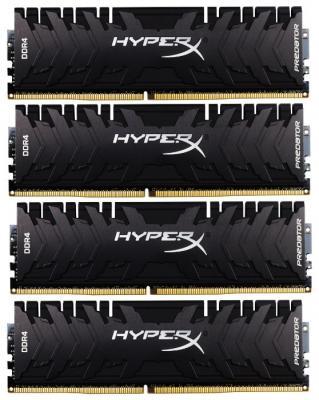Kingston 32GB 3200MHz DDR4 CL16 DIMM (Kit of 4) XMP HyperX Predator RGB kingston kingston hyperx predator 240гб
