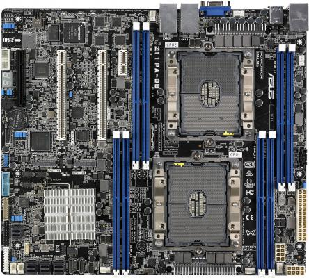 Материнская плата ASUS Z11PA-D8 2 x Socket 3647 C621 8xDDR4 2xPCI-E 16x 1xPCI-E 8x 16 SSI CEB мат плата для пк asus x99 e ws usb 3 1 2 х socket 2011 3 x99 8xddr4 7xpci e 16x 8xsataiii ssi ceb retail