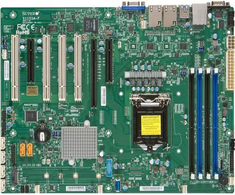 Материнская плата Supermicro MBD-X11SSA-F-O Socket 1151 C236 4xDDR4 1xPCI-E 16x 1xPCI-E 8x 6 ATX цена и фото