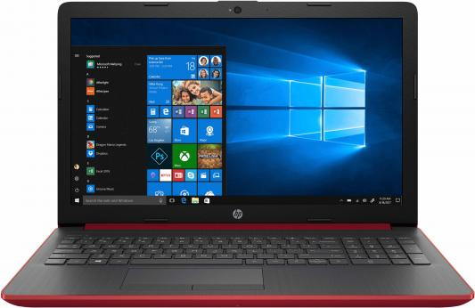 "Ноутбук HP15 15-da0023ur 15.6"" 1366x768, Intel Pentium N5000 2.7GHz, 4Gb, 500Gb, DVD-RW, WiFi, BT, Cam, Win10, красный цена и фото"