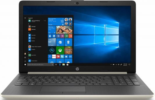 Ноутбук HP 15-da0042ur 15.6 1366x768 Intel Pentium-N5000 500 Gb 4Gb nVidia GeForce MX110 2048 Мб золотистый Windows 10 Home 4GL73EA ноутбук hp 15 da0046ur 4gk51ea intel n5000 4gb 500gb nv mx110 2gb 15 6 dvd win10 silver