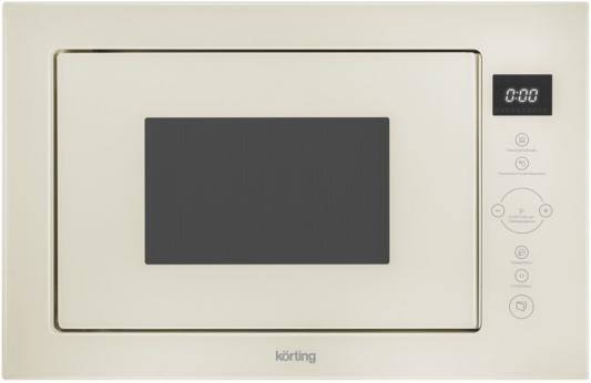 Микроволновая печь Korting KMI 825 TGB 900 Вт бежевый микроволновая печь bbk 23mws 927m w 900 вт белый