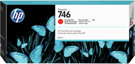 HP 746 300-ml Chromatic Red Ink Cartridge red ink