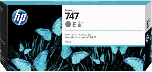 HP 747 300-ml Gray Ink Cartridge