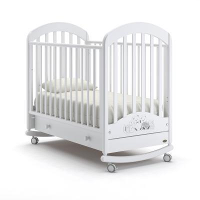 Кроватка-качалка Nuovita Grano Dondolo (bianco) детская кровать nuovita grano dondolo bianco белый
