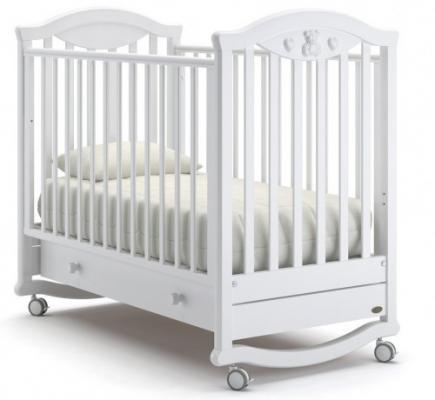 Кроватка-качалка Nuovita Lusso Dondolo (bianco) детские кроватки nuovita lusso swing маятник продольный