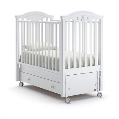 Кроватка с маятником Nuovita Lusso Swing (bianco) детские кроватки nuovita lusso swing маятник продольный