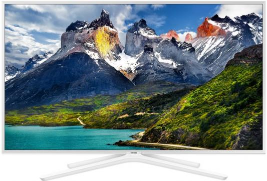 "Телевизор LED 49"" Samsung UE49N5510AUX белый 1920x1080 50 Гц Smart TV USB телевизор жк samsung ue40j5200auxru 40 smart tv"
