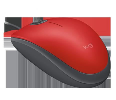 лучшая цена Мышь проводная Logitech M110 Silent USB Red Ret красный USB 2.0