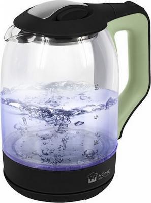 Чайник электрический HOME ELEMENT HE-KT190 1800 Вт тёмный нефрит 2 л пластик/стекло цена и фото