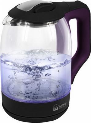 Чайник электрический HOME ELEMENT HE-KT190 1800 Вт фиолетовый чароит 2 л пластик/стекло цена и фото