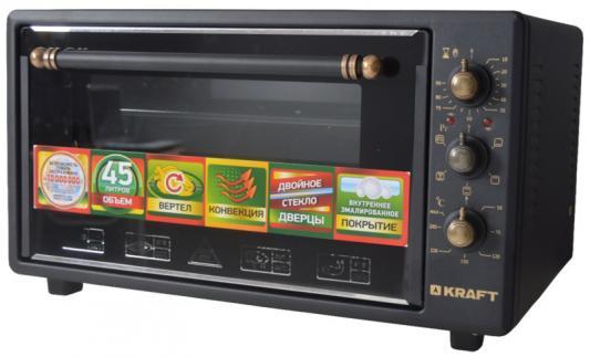 KRAFT KF-MO 4504 RK2GBL Мини-печь черный RETRO kraft kf mo 3804 rkbl