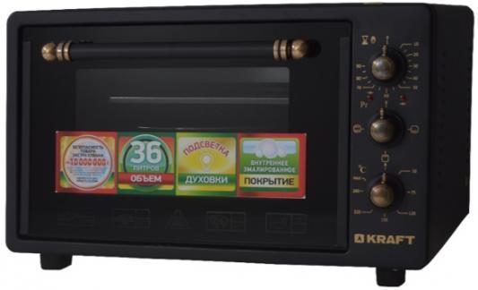 KRAFT KF-MO 3602 BL Мини-печь черный RETRO мини печь кумтел kf 3100