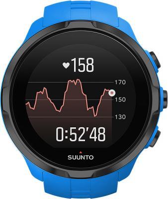 Часы SUUNTO SPARTAN SPORT WRIST HR BLUE/ Размеры 50x50x16,8мм, вес 74г, нерж сталь, минеральный хрусталь, полиамид, силиконовый ремешок часы спортивные suunto spartan sport wrist hr all black цвет черный