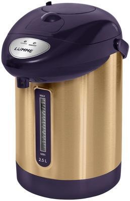 Термопот Lumme LU-3830 750 Вт черное золото 2.5 л металл термопот lumme lu 299 gold black