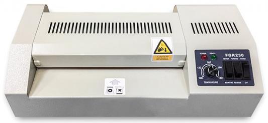 ГЕЛЕОС Ламинатор FGK 230, А4, 2х250 (пленка 60-250мкм), 600 мм/мин, 4 вала, реверс, металл. корпус, мах толщина 2мм ламинатор гелеос лм a3 4r a4 60 250мкм 66см мин
