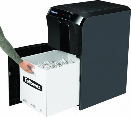 Шредер Fellowes® AutoMax™ 500CL. (500 листов) , 75 литр, 4х38 мм (класс 4), Jam Guard, скобы/скрепки/карты/CD