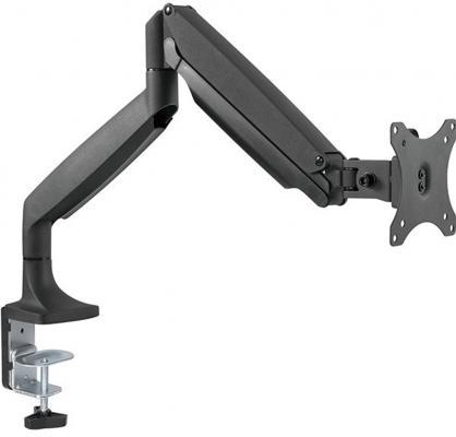 Кронштейн для мониторов ONKRON/ 13-32'' ГАЗЛИФТ макс 100*100 наклон -90?/+90?, поворот +-90°, 2 колена, от стены: до 525мм, крепление к столу 10-85мм, вес до 9кг, черный цена
