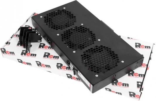 ЦМО Модуль вентиляторный, 3 вентилятора, колодка, цвет черный R-FAN-3J-9005 цмо модуль вентиляторный 3 вентилятора с терморегулятором чёрный r fan 3t 9005
