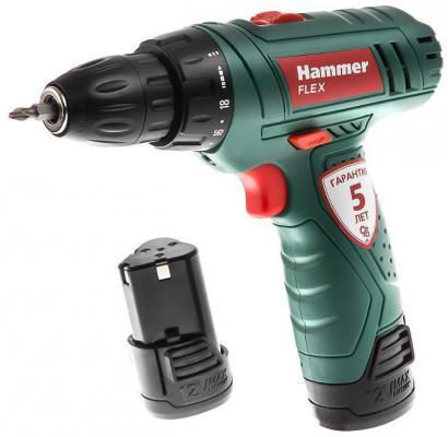 Аккум.дрель Hammer Flex ACD12/2LE  12.0В LiION 2x1.3Ач 10мм 0-350/0-1250об/мин 20Нм зар.3ч