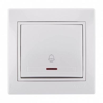 Кнопка LEZARD 701-0202-108 серия скр.проводки Мира звонка подсветка белый Комплект из 2 шт.