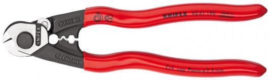Тросорез KNIPEX 9561190 190мм кабельный, ручки с пластмассовыми чехлами тросорез knipex kn 9561190