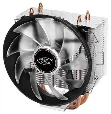 Кулер DEEPCOOL GAMMAXX300R LGA1366/1156/55/51/50/775/FM2+/FM2/FM1/AM3+/AM3/AM2+/AM2/AM4 (24шт/кор, TDP 130Вт, PWM, Red Led, 3 тепл. трубки прямого контакта,120мм вент-р,17.8~21dB(A)) RET thermalright le grand macho rt computer coolers amd intel cpu heatsink radiatorlga 775 2011 1366 am3 am4 fm2 fm1 coolers fan
