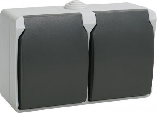 Розетка ИЭК Форс РСб22-3-ФСр 2м с/з открытой установки