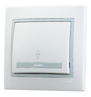 Выключатель LEZARD 701-0215-105 10 A белый серый