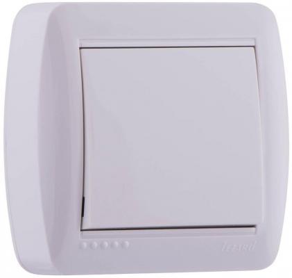 Выключатель LEZARD Демет 10 A белый 711-0200-100 выключатель lezard 711 0300 112 двойной подсветка серия наружной проводки демет кремовый
