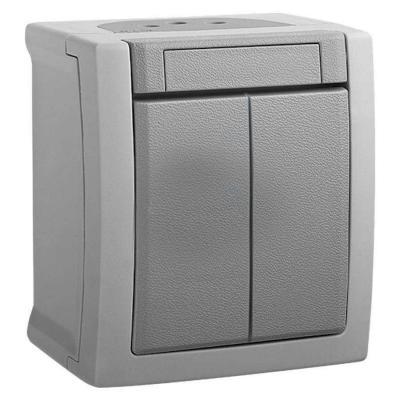 Переключатель PANASONIC WPTC4003-2GR-RES PACIFIC 1кл проходной серый