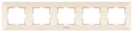 Рамка PANASONIC WMTF0805-2BG-RES Arkedia 5м горизонтальная крем