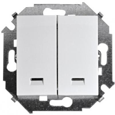 Выключатель SIMON 15 1591392-030 2-клавишный белый 16А 250В с подсветкой винтовой зажим