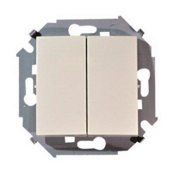 Выключатель Simon 1591398-031 16 A бежевый simon simon 15 белый выключатель 2 клавишный 16а 250в винт заж 1591398 030