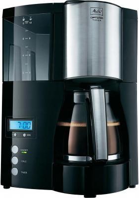 Кофеварка капельная Melitta Optima Timer 850Вт черный кофеварка melitta optima timer черный