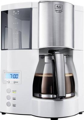 Кофеварка капельная Melitta Optima Timer 850Вт белый кофеварка melitta optima timer черный