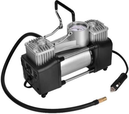 Компрессор автомобильный SKYBEAR 215030 двухпоршневой 12В 3 адаптера 70л/мин 10атм. компрессор skybear 215020