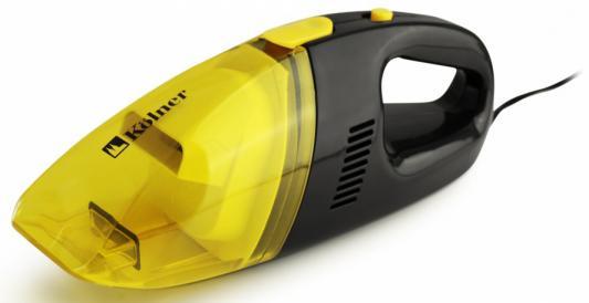 Автомобильный пылесос Kolner KAVC 12/60 сухая уборка жёлтый черный автомобильный пылесос alca 229000 сухая влажная уборка черный