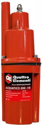 Вибрационный насос QUATTRO ELEMENTI Acquatico 200-10 200Вт 960 л/ч для чистой 40м кабель10м 24кг насос quattro elementi acquatico 260