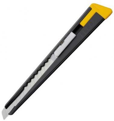 Канцелярский нож OLFA OL-180-BLACK нерж.сталь серебристый 0.9см нож строительный olfa ol cmp 1